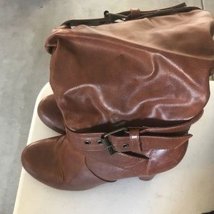 Shoes - Brown heeled boots